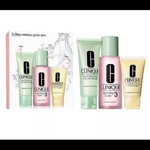 Clinique 3-Step Intro Kit For Oilier Skin (Type 3)